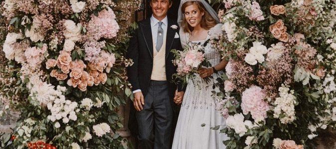 Британська принцеса вийшла заміж в вінтажному платті, пошитому для королеви Єлизавети II